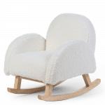 fauteuil à bascule pour enfant Teddy écru Childhome