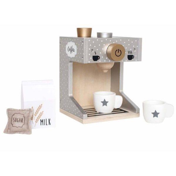 Machine à café en bois pour enfant