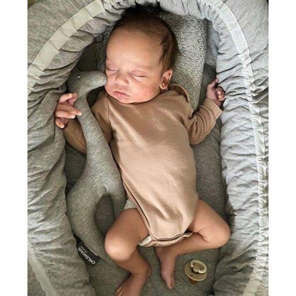 Nid bébé Jersey Gris - Childhome