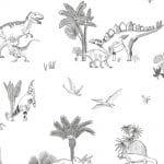 Papier peint enfant Dinosaures Lilipinso