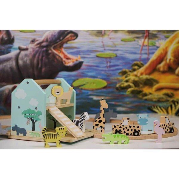 Circuit Safari en bois pour enfant