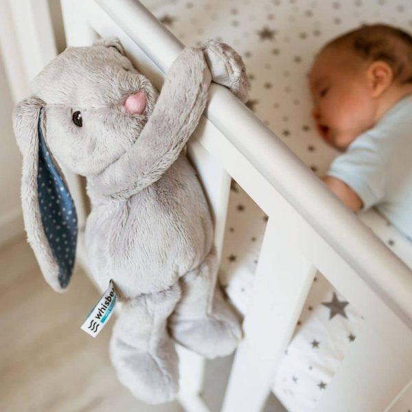 Lapin apaisant gris Whisbear pour bébé