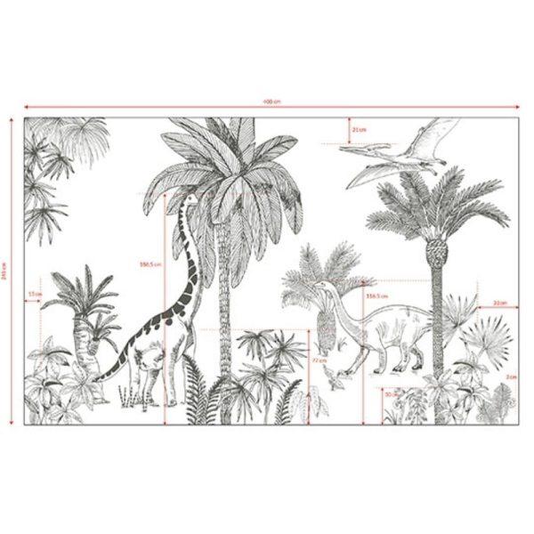 Papier peint décor mural Dinosaures