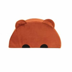 Pouf velours Ours Terracotta
