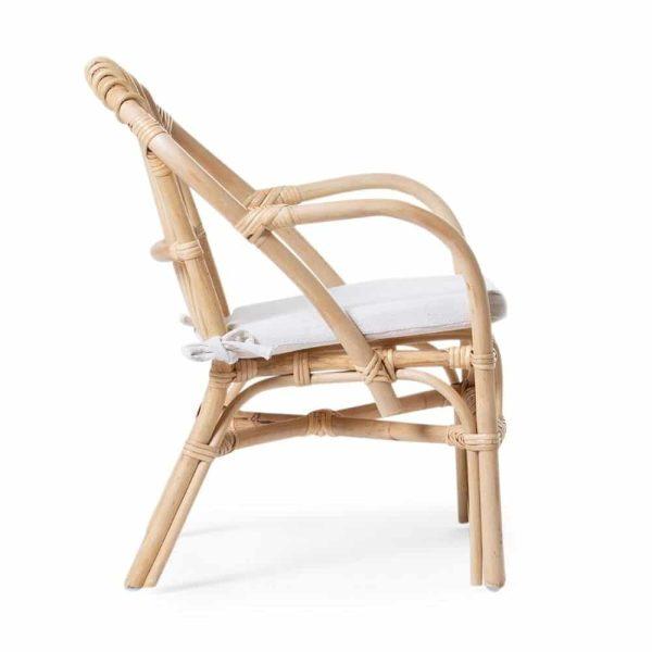 Chaise enfant rotin avec coussin - Childhome