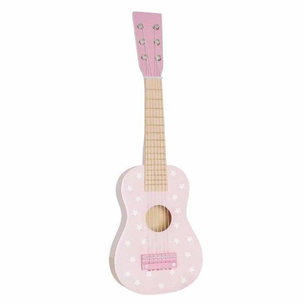 Guitare en bois Rose étoiles
