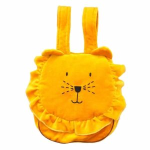 sac à dos enfant velours lion