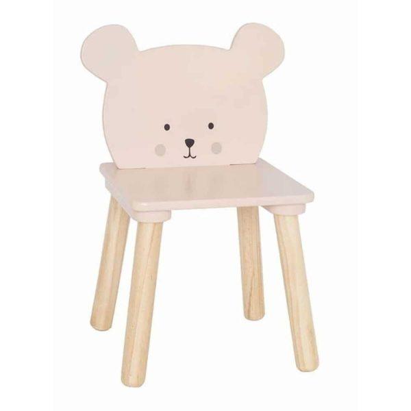 Chaise enfant bois Ours