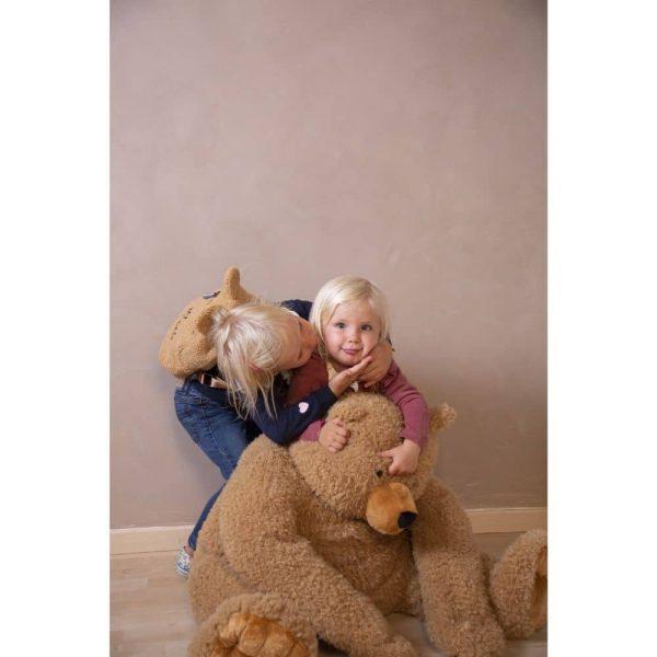 Ours en peluche assis Teddy Beige 60X60X76 cm