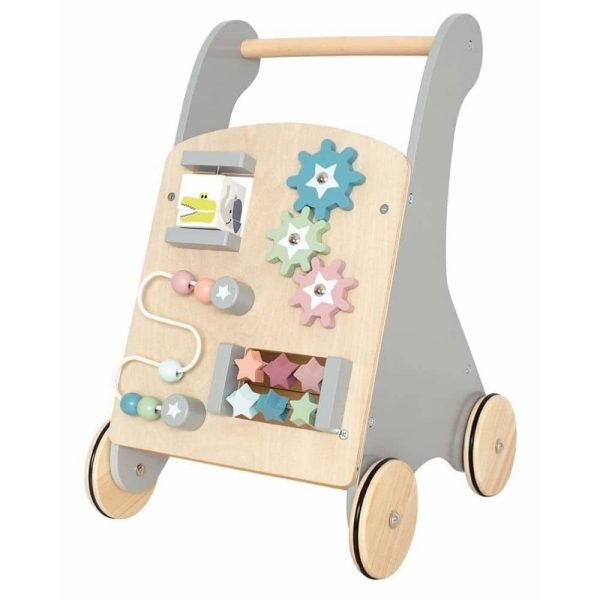 Chariot d'activités en bois pour enfant