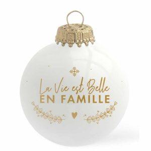 Boule de Noël La vie est belle en famille - Baubels