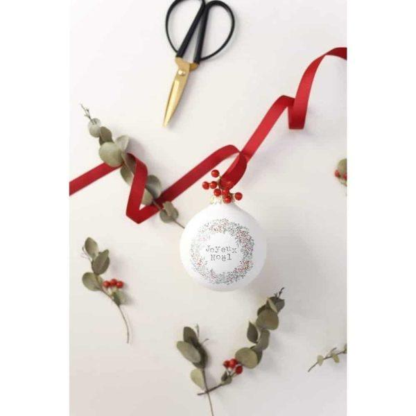 Boule de Noël Joyeux Noël Mat - Baubels