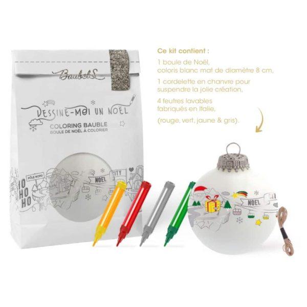 Kit DIY Boule de Noël à Colorier - Baubels