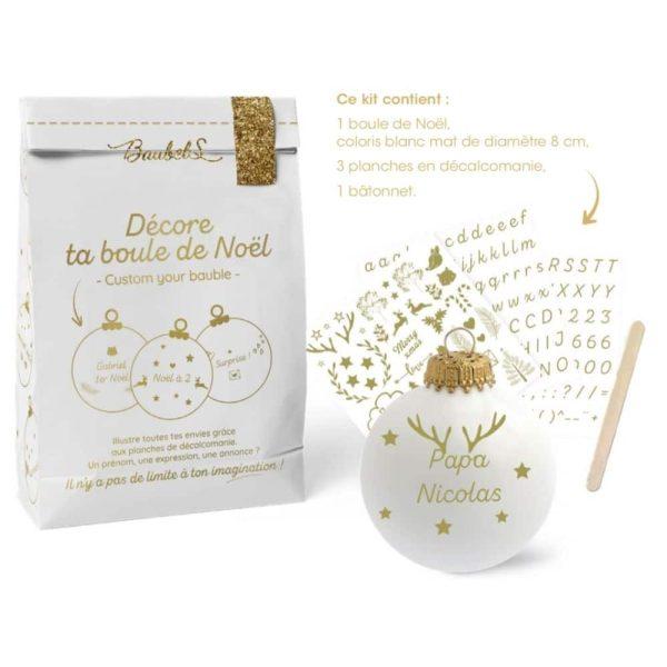 Kit DIY Décalco Boule de Noël – Baubels