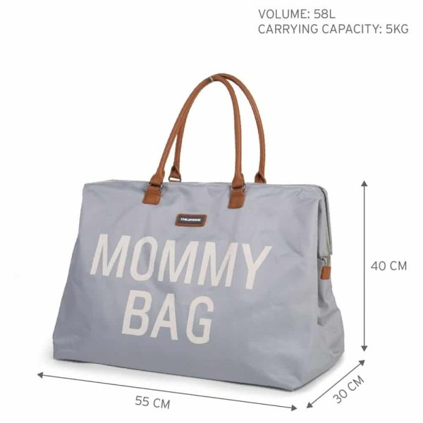 Sac Mommy Bag coloris Gris & Écru - Childhome