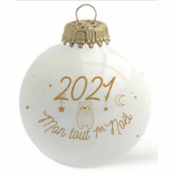 Boule mon tout 1er Noel 2021 - Baubels