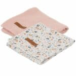 Lange bébé Pure pink & Spring flowers (lot de 2) - Little Dutch