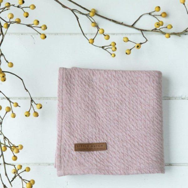 Lange bébé Pure pink & Spring flowers (lot de 2) - Little Dutch