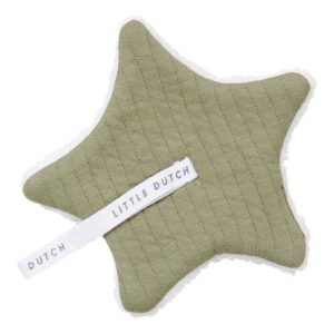 Doudou Attache tétine Pure Olive - Little Dutch