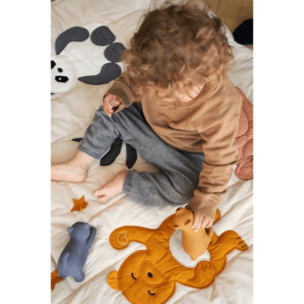 tapis d'activités bébé glenn classic sandy - Liewood