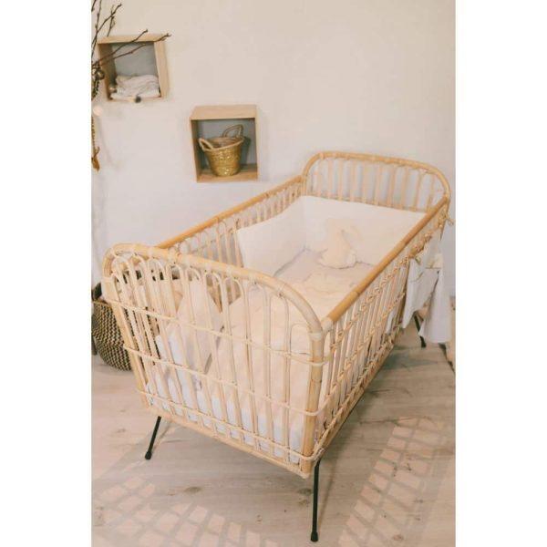 Lit bébé rotin 60 x 120 cm Java - Saudara