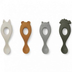 Lot de 4 cuillères silicone Liva Hunter Green - Liewood