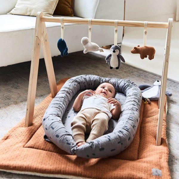Tapis de parc Bliss knit Caramel & Teddy - Jollein