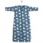 Gigoteuse 90 cm Paresseux Bleu avec manches – Jollein