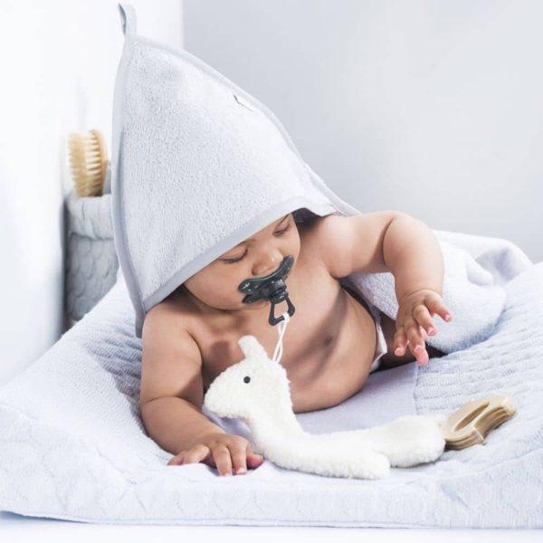 Doudou Attache-tétine Lama Blanc - Jollein