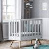 lit bébé nature blanc 60 x 120 cm – vox