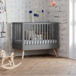 lit bébé nature gris 60 x 120 cm – vox