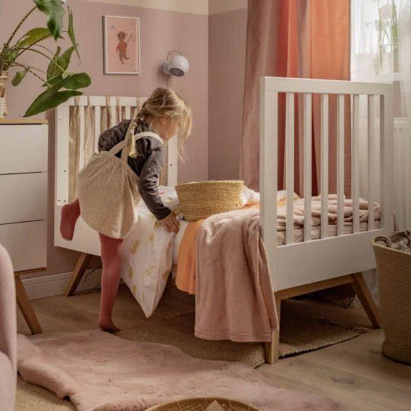 lit bébé évolutif nature blanc 70 x 140 cm vox (1)
