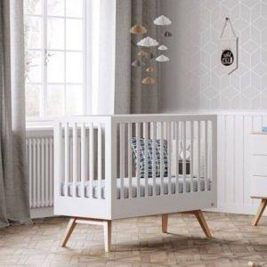 lit bébé évolutif nature blanc 70 x 140 cm vox (2)