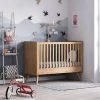 lit bébé évolutif vintage chêne 70 x 140 cm vox (1)