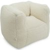 Fauteuil Bean Teddy Cream White - Jollein