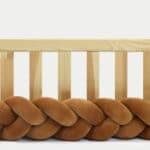 Tour de lit tressé pour bébé velours Cannelle