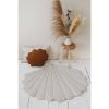 Tapis lin coquillage sable