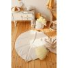 Tapis lin feuille sable