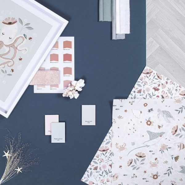 Papier peint Fleurs & Animaux aquatiques - Lilipinso