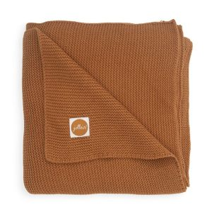 Couverture Basic knit Caramel - Jollein