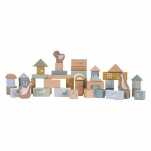 blocs de construction en bois bleu little dutch (1)