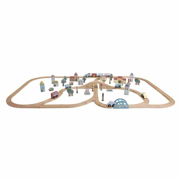 circuit train en bois xxl little dutch (1)