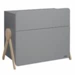 commode en bois 3 tiroirs swing gris micuna