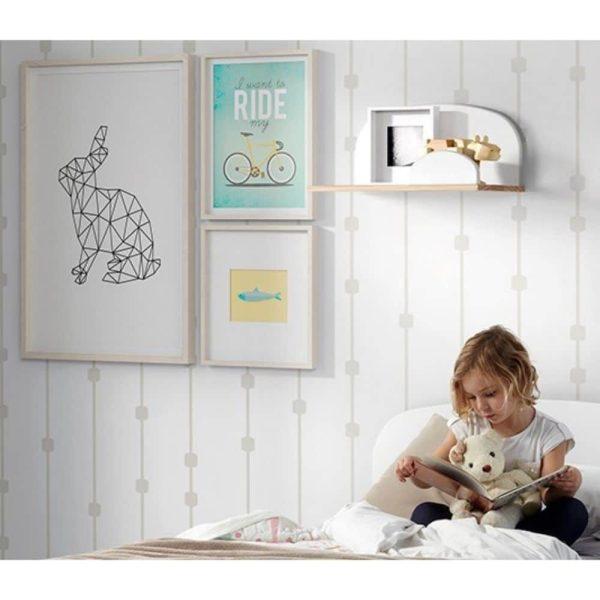 etagère murale kiddy 45 cm blanc vipack (2)