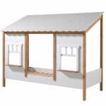 lit cabane housebed 90 x 200 cm blanc & bois vipack (6)