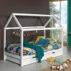 lit cabane en bois dallas 90 x 200 cm blanc – vipack