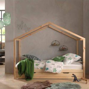 lit cabane en bois dallas 90 x 200 cm nature – vipack