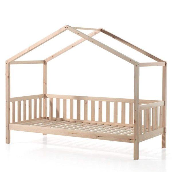 lit cabane en bois dallas barrières inclus 90 x 200 cm – vipack (1)
