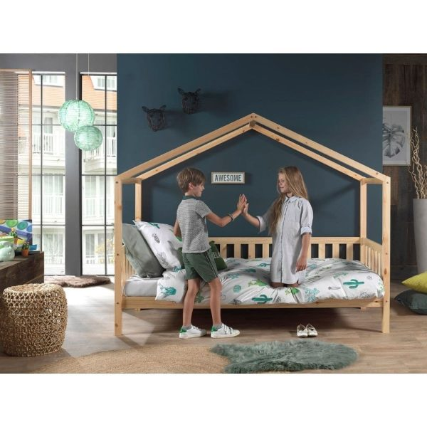 lit cabane en bois dallas barrières inclus 90 x 200 cm – vipack (4)