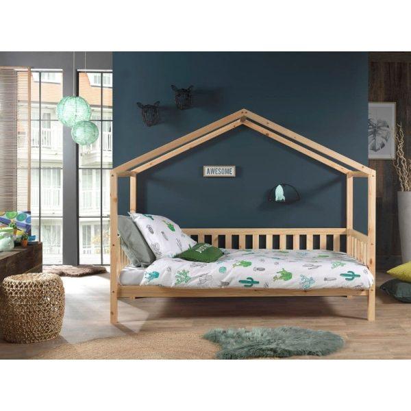 lit cabane en bois dallas barrières inclus 90 x 200 cm – vipack (5)